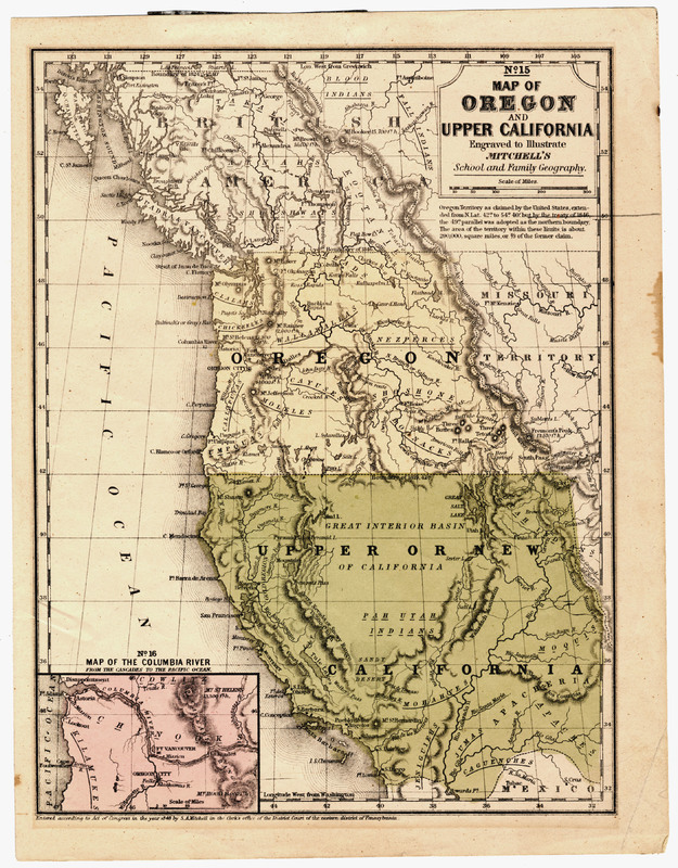 Map of Oregon Territory and Upper California [1848?]