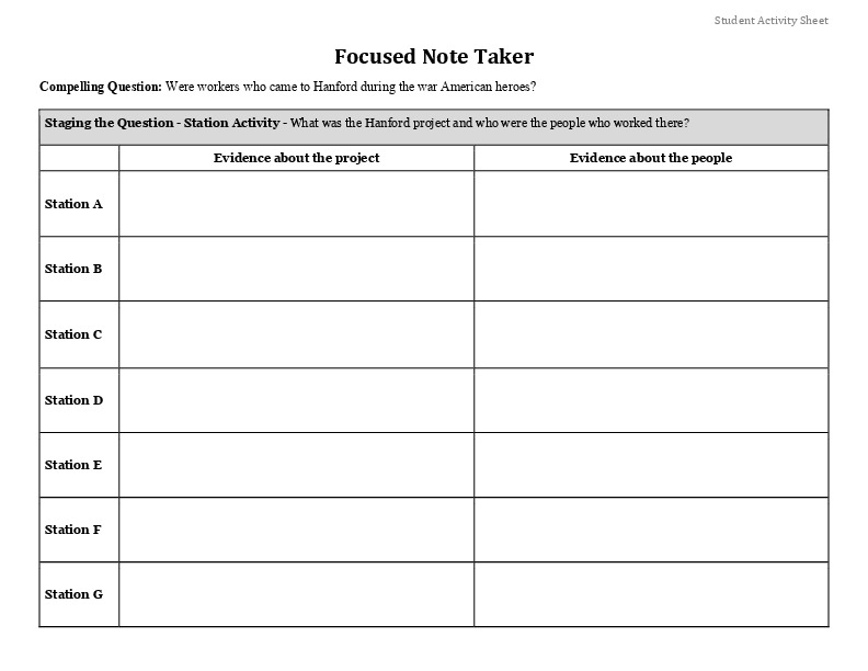 Focused Note Taker Activity Sheet.pdf