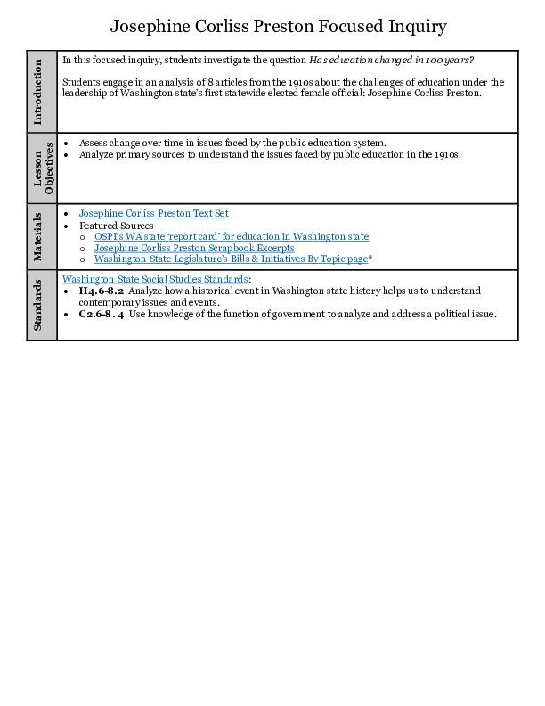 Josephine Corliss Preston Lesson Plan (pdf)