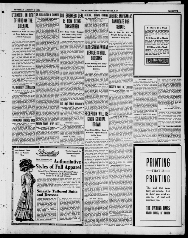 Dr. Cora Eaton A Climber from The Evening Times (Grand Forks, N.D.), August 26, 1909