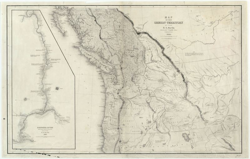 Map of the Oregon Territory