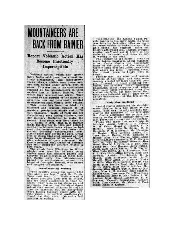 Suffragette Summit of Rainier Text Set (pdf)