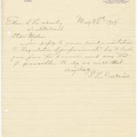 Letter from F. Calkins to Ellen Leckenby, 5/23/1909