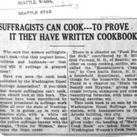 Page 172 : Suffragists Can Cook --- To Prove it They Have Written Cookbook