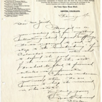 Letter from Omar Garwood to Jennie Jewett, 2/18/1911, page 1