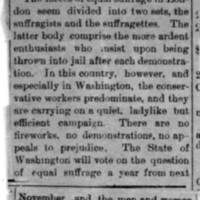 Page 178 : [news clipping: Equal Suffrage in Two Sets]