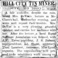 Page 36 : [news clipping:Emma Smith DeVoe at McClure' Hall]