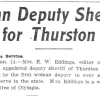 Page 081 : Woman Deputy Sheriff for Thurston County
