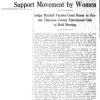 Page 089 : Clubs and City Are Won to Support Movement by Women