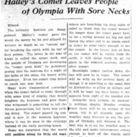 Page 100 : Halley's Comet Leaves People of Olympia With Sore Necks