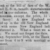 Page 21 : [news clipping: W.C.T.U. and E.S.A. benefit announcement]