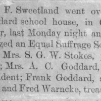 Page 30 : [news clipping : D.F. Sweetland organizes Equal Suffrage Society]