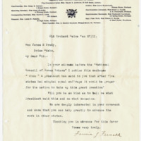 Letter from Fannie Fernald to James Brady, 1/27/1911, page 1