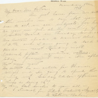 Letter from LaReine Baker to Emma Smith DeVoel, ?/?/[1908], page 1
