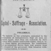 Page 04 : Constitution and By-Laws of the South Dakota Equal Suffrage Association (Page 1)