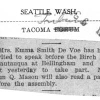 Page 115 : [Mrs.DeVoe at Chautauqua]