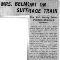 Page 031 : Mrs. Belmont on Suffrage Train