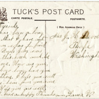 Postcard from Laura V. to J.H. DeVoe, Front
