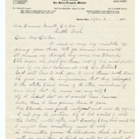 Letter from Cora Ferguson to Emma Smith DeVoe, 4/2/1910, page 1