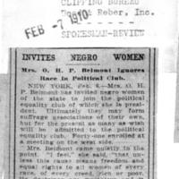 Page 135 : Invites Negro Women