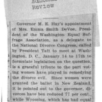Page 100 : [news clipping: Hay Appoints DeVoe as Delegate]
