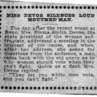 Page 060 : Miss DeVoe Silences Loud Mouthed Man