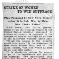 Page 005 : Strike of Women to win Suffrage