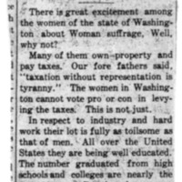 Page 118 : [news clipping: Great Excitement Among Women]