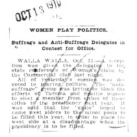 Page 025 : Women Play Politics : Suffrage and Anti-Suffrage Delegates in Contest for Office