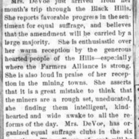 Page 37 : [news clipping: Emma Smith DeVoe Arrives Home]