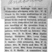 Page 152 : [news clipping: Equal Suffrage Club in Anacortes]