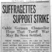 Page 128 : Suffragettes Support Strike