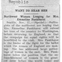 Page 062 : Want to Hear Her : Northwest women longing for Emmeline Pankhurst