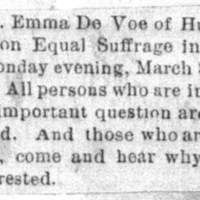 Page 32 : [news clipping: Emma Smith DeVoe at Burgess Hall]