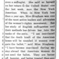 Page 156 : [Amelia Bingham No Longer a Suffragette]