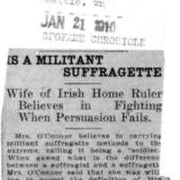 Page 122 : Is a Militant Suffragette