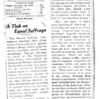 Page 023 : A Tlak [?] on Equal Suffrage (continued on page 24)