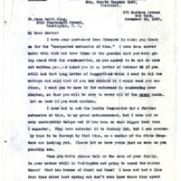 Letter from Ida Harper to Cora Smith King, 11/18/1920, page 1