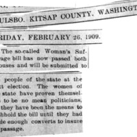 Page 104 : [news clipping : so-called Woman's Suffrage bill has now passed both houses]