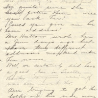 Letter from LaReine Baker to May Grinnell, 10/15/1908, page 2
