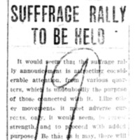 Page 062 : Suffrage Rally To Be Held