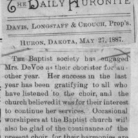 Page 17 : [news clipping: Emma Smith DeVoe elected choir director]
