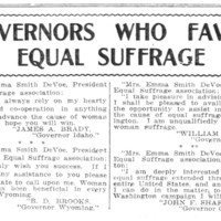 Page 022 : Governors Who Favor Equal Suffrage