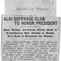 Page 032 : Alki Suffrage Club to Honor President