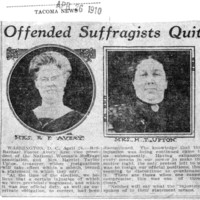 Page 108 : Offended Suffragists Quit