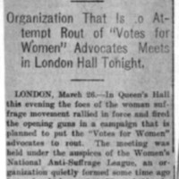 Page 127 : Suffragists' Foes Are Active