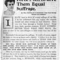 Page 134 : Women Could Force Men to Give Them Equal Suffrage