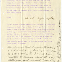 Letter from Harriet Upton to Bernice Sapp, 9/4/1906, page 2