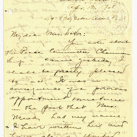 Letter from Adella Parker to Emma Smith DeVoe, 4/13/1908, page 1