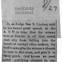 Page 147 : [news clipping: Lindsey Speeks at A.Y.P.]